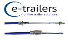 TRAILER BRAKE CABLE 2130mm  BOWDEN DETACHABLE  FITS IFOR WILLIAMS & KNOTT SYSTEM